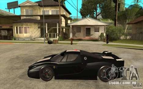 Ferrari FXX 2005 para GTA San Andreas traseira esquerda vista