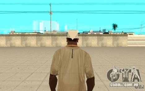 Bandana branco para GTA San Andreas terceira tela