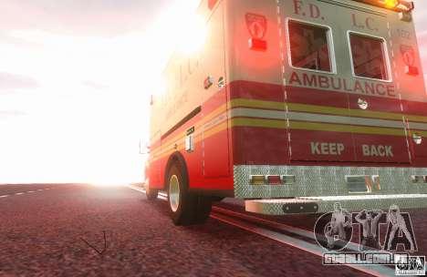 Ford F350 FDLC Ambulance v3.0 ELS para GTA 4 traseira esquerda vista
