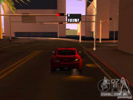 Hyundai Genesis Coupé 3.8 Track v 1.0 para vista lateral GTA San Andreas