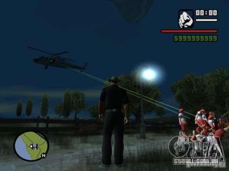 Apoio aéreo para GTA San Andreas terceira tela
