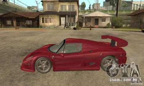 Ferrari F50 GT (v1.0.0) para GTA San Andreas esquerda vista