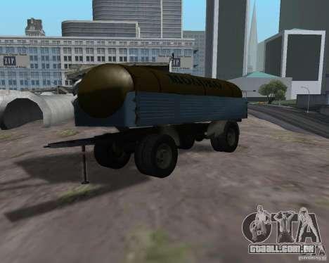 Trailer de Kamaz 53212 tanque de leite para GTA San Andreas