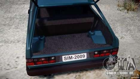 Volkswagen Gol GL para GTA 4 vista interior