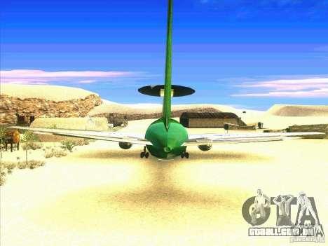 Boeing E-767 para GTA San Andreas traseira esquerda vista