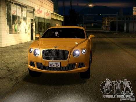 Bentley Continental GT 2011 para GTA San Andreas vista superior