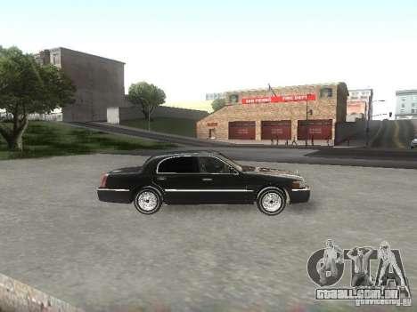 Lincoln Town car sedan para GTA San Andreas esquerda vista
