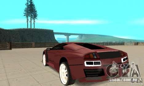 Lamborghini Murcielago Tuned para GTA San Andreas traseira esquerda vista
