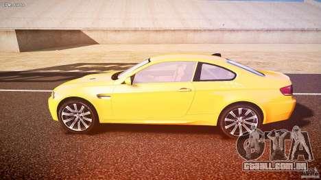 BMW M3 E92 para GTA 4 esquerda vista