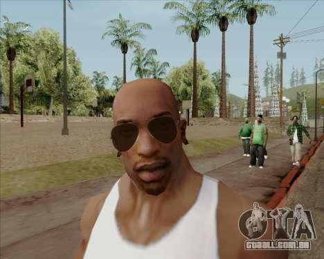 Óculos marrom aviadores para GTA San Andreas quinto tela