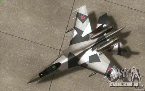 Su-35 BM v 2.0 para GTA San Andreas vista interior