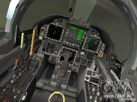 FA-18D Hornet para GTA San Andreas vista traseira