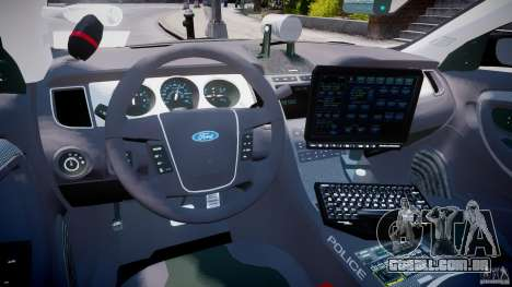 Ford Taurus Police Interceptor 2011 [ELS] para GTA 4 vista direita