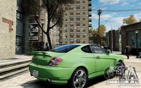 Hyundai Tuscani para GTA 4 traseira esquerda vista