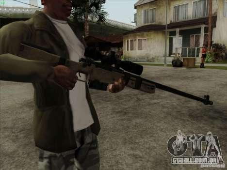 L96A1 para GTA San Andreas segunda tela