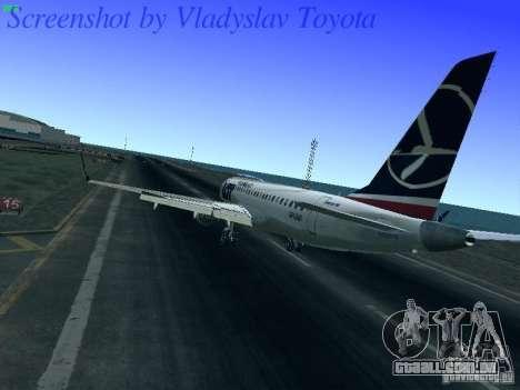 Embraer ERJ 190 LOT Polish Airlines para GTA San Andreas traseira esquerda vista