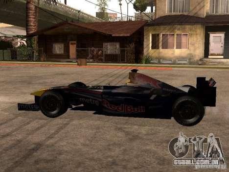 F1 Red Bull Sport para GTA San Andreas esquerda vista