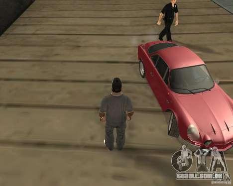 A roda tornou-se quando sair de um carro para GTA San Andreas segunda tela
