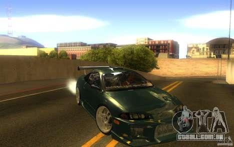 Mitsubishi Eclipse DriftStyle para GTA San Andreas vista traseira