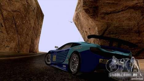 Pintura funciona McLaren MP4-12 c Speedhunters para GTA San Andreas traseira esquerda vista
