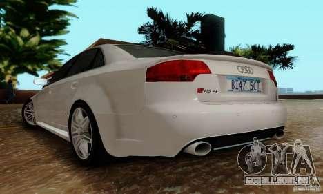 Audi RS4 2007 para GTA San Andreas vista traseira