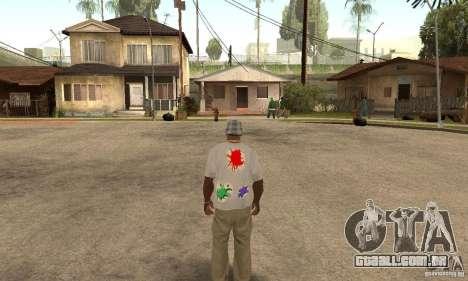 Gotcha Shirt para GTA San Andreas segunda tela