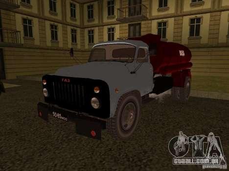 GAZ-53 transportadora de água para GTA San Andreas