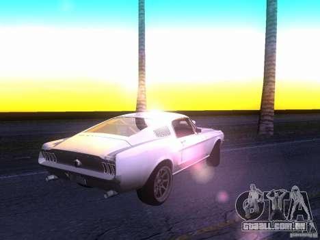 Ford Mustang 1967 GT Tuned para GTA San Andreas vista direita