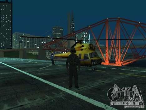 Polícia mi-2 para GTA San Andreas vista traseira