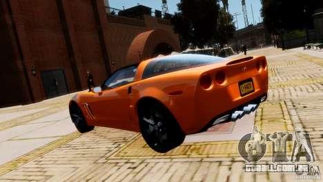 Chevrolet Corvette Grand Sport 2010 para GTA 4 vista direita