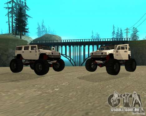 Hummer H2 MONSTER para GTA San Andreas vista direita