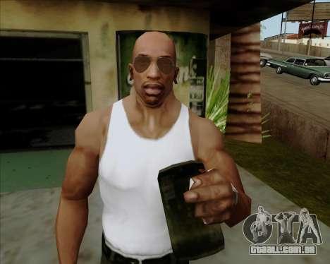Óculos marrom aviadores para GTA San Andreas sexta tela