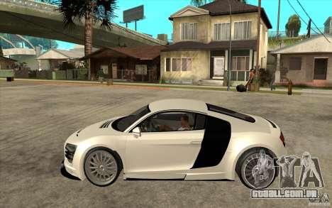 Audi R8 5.2 FSI custom para GTA San Andreas esquerda vista