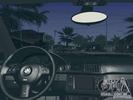 BMW M5 E39 2003 para GTA San Andreas vista superior