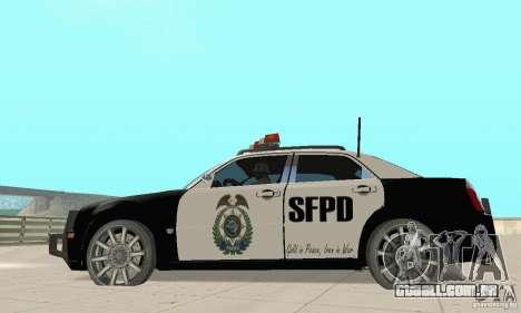 Chrysler 300C Police v2.0 para GTA San Andreas esquerda vista