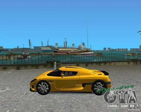 Koenigsegg CCX para GTA Vice City vista traseira esquerda