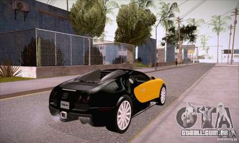 Bugatti Veyron 16.4 EB 2006 para GTA San Andreas vista direita