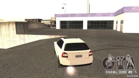 Audi A3 1.8T 180cv para GTA San Andreas vista traseira