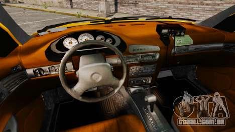 Dodge Intrepid 1993 Taxi para GTA 4 vista de volta