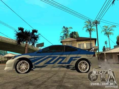 Acura RSX Shark Speed para GTA San Andreas esquerda vista
