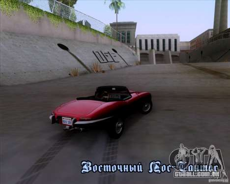 Jaguar E-Type 1966 para vista lateral GTA San Andreas