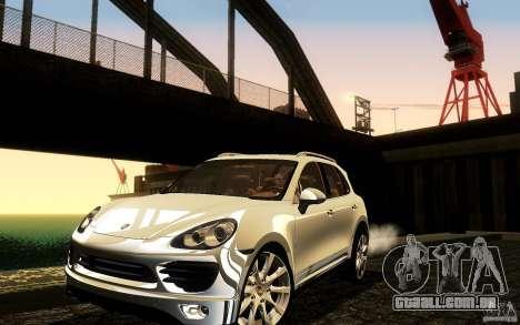 Porsche Cayenne 958 2010 V1.0 para GTA San Andreas vista inferior