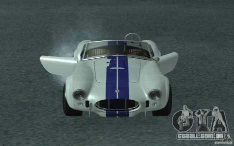 Shelby Cobra 427 para GTA San Andreas traseira esquerda vista