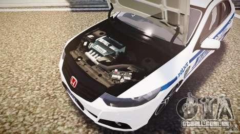 Honda Accord Type R NYPD (City Patrol 7605) ELS para GTA 4 vista inferior