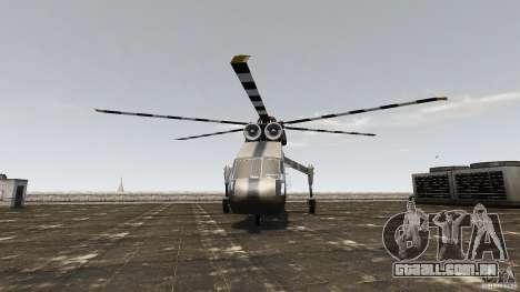 SkyLift Helicopter para GTA 4 vista direita