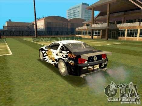 Ford Mustang Drag King from NFS Pro Street para GTA San Andreas esquerda vista