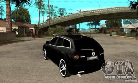 Mazda CX-7 para GTA San Andreas traseira esquerda vista