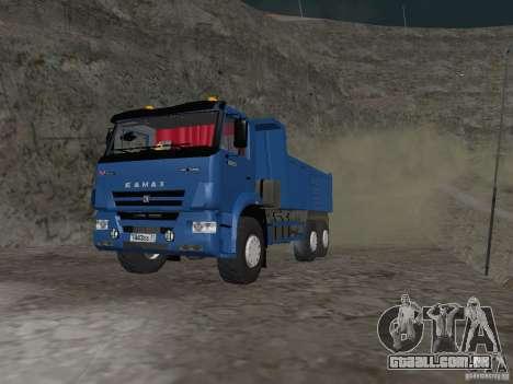 KAMAZ 65222 para GTA San Andreas esquerda vista