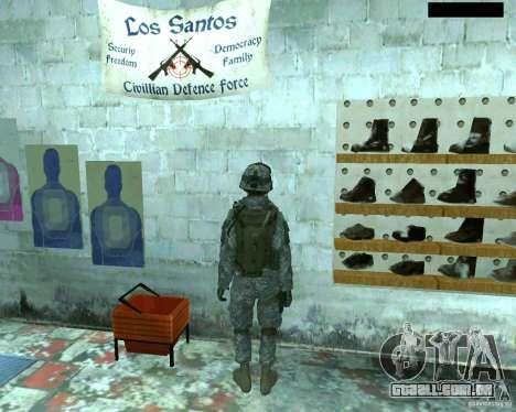 Soldado de infantaria pele CoD MW 2 para GTA San Andreas quinto tela