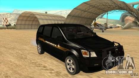 Dodge Caravan Sheriff 2008 para GTA San Andreas vista traseira